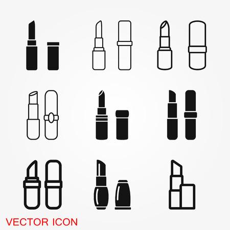 Lipstick icon, flat logo of lipstick, vector sign symbol for design Illustration