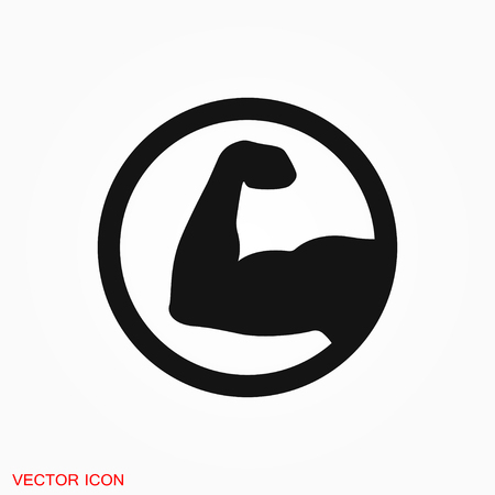 Muscle icon logo, vector sign symbol for design