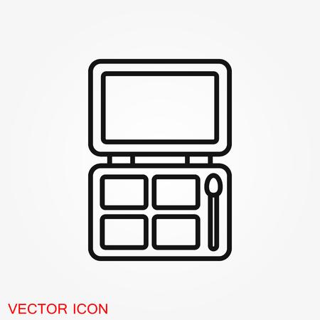 Eyeshadow icon logo, illustration, vector sign symbol for design Logó