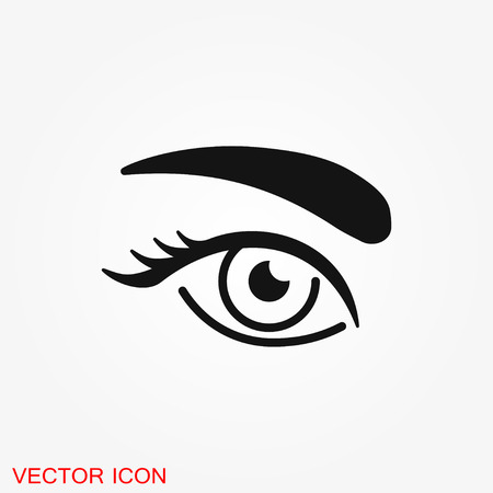 Eyebrow icon. Eyebrow tattoo. logo, illustration, vector sign symbol for design Иллюстрация