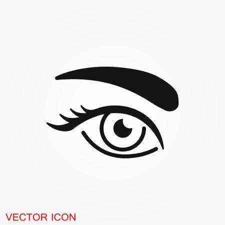 Icône de sourcil. Tatouage de sourcil. logo, illustration, symbole de signe de vecteur pour la conception Logo