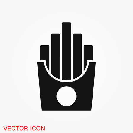 French fries icon. Vector concept illustration for design.