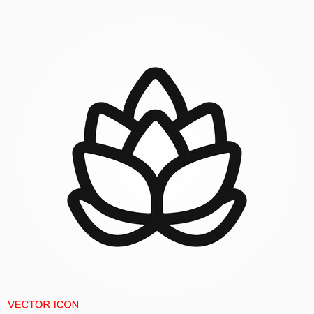 Hop icon logo, vector sign symbol for design 向量圖像