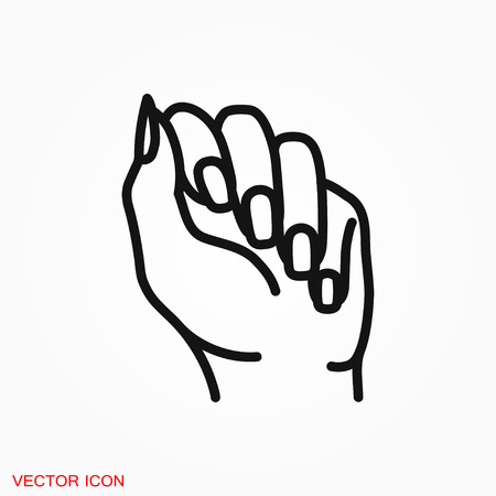 Manicure icon logo, vector sign symbol for design