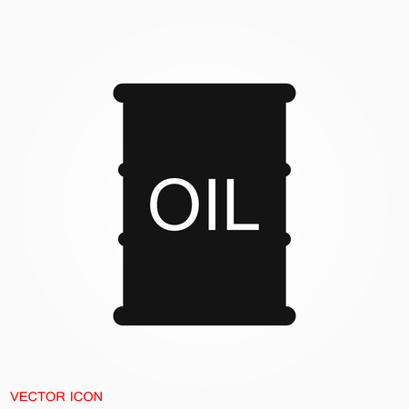 Oil drum container icon logo, vector sign symbol for design