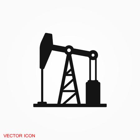 Logo d'icône de pompe à huile, symbole de signe de vecteur pour la conception