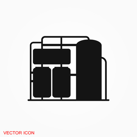 Oil storage tank icon logo, vector sign symbol for design