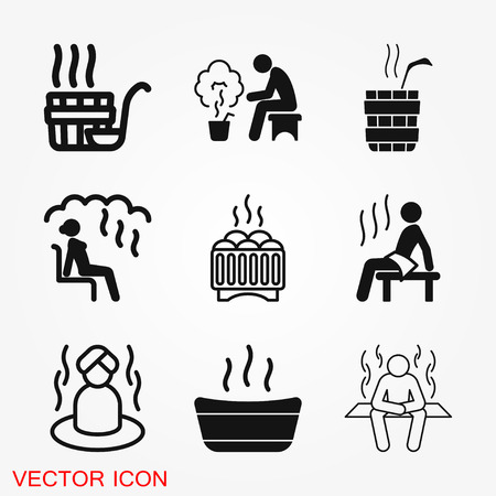 Sauna icon vector sign symbol 矢量图像