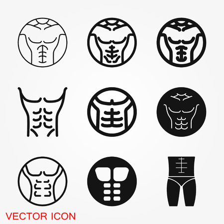 Weight loss icon vector sign symbol for design 免版税图像 - 121814891