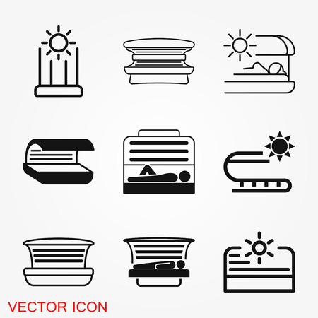 Solarium icon vector sign symbol for design