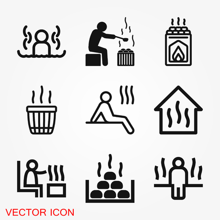 Sauna icône vecteur signe symbole Vecteurs