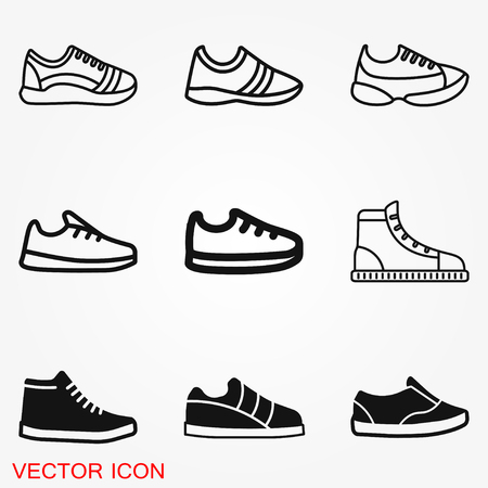 Sneakers icon vector sign symbol