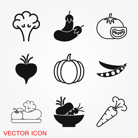 Vegetables Icon vector sign symbol