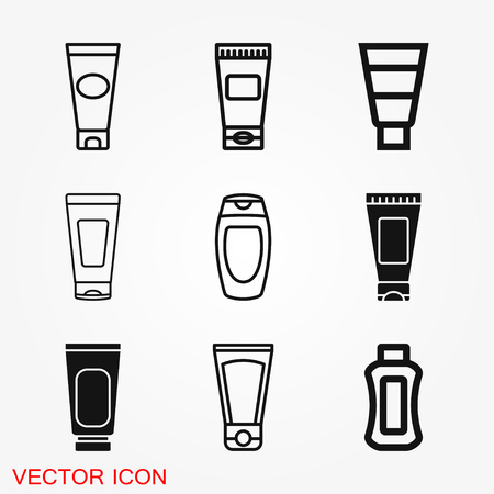 Tube container for cream icon vector sign symbol