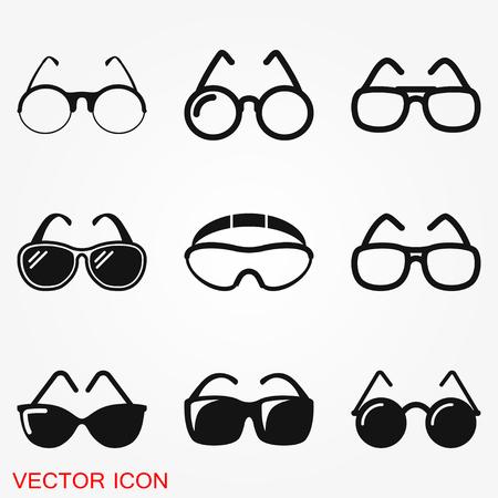 Símbolo de signo de vector de icono de gafas de sol
