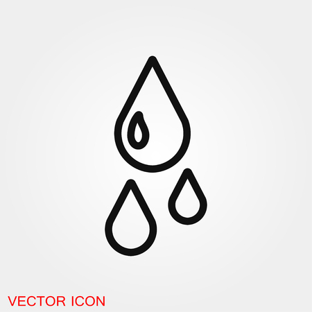 Water icon vector sign symbol Ilustrace