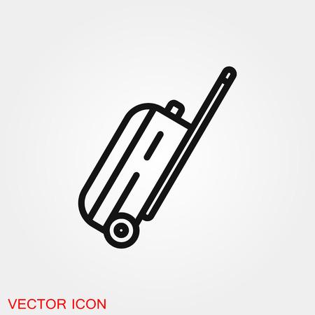 Travel bag icon vector sign symbol