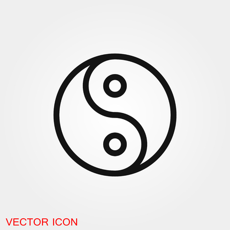 Yin Yang icon vector sign symbol