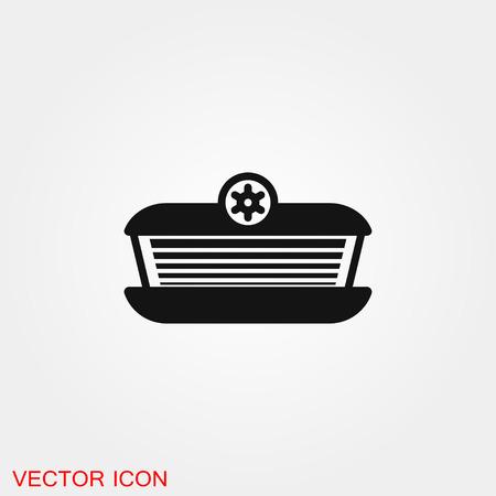 Solarium icon vector sign symbol
