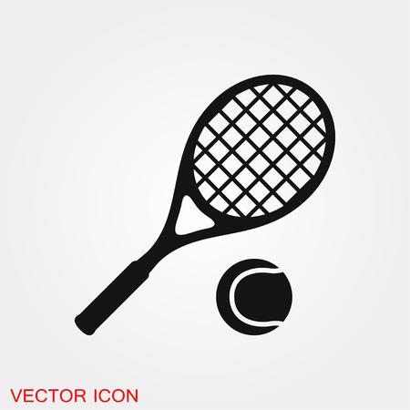 Simbolo del segno di vettore dell'icona di tennis per il design