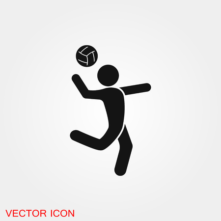 Volleyball icon vector sign symbol