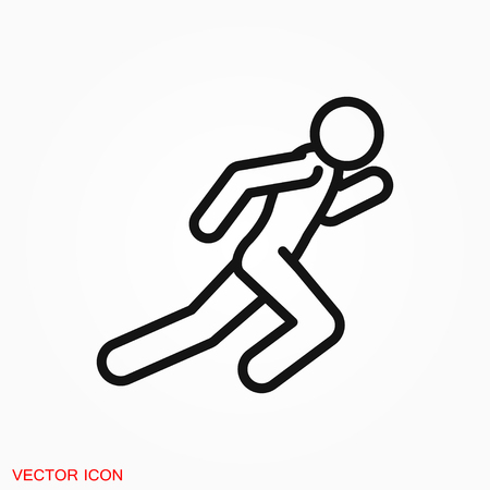Running Icon vector sign symbol