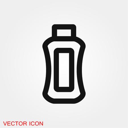 Tube container for cream icon vector sign symbol