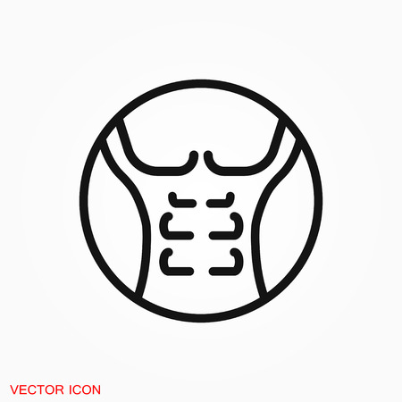 Weight loss icon vector sign symbol Vettoriali
