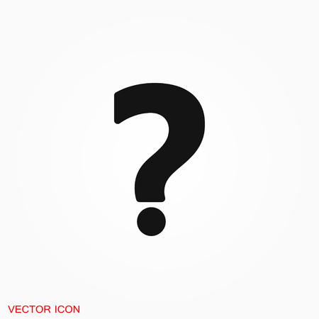 Information support, question mark icon vector sign symbol