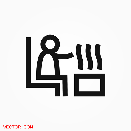 Sauna icon vector sign symbol Stock Illustratie
