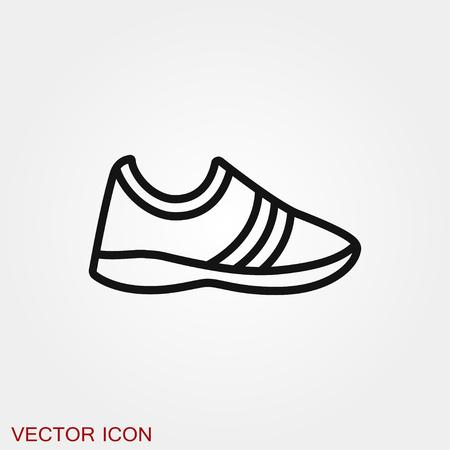 Símbolo de signo de vector de icono de zapatillas Ilustración de vector