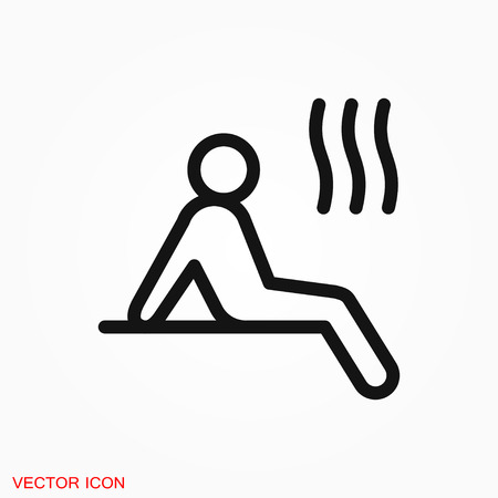 Sauna icon vector sign symbol Иллюстрация
