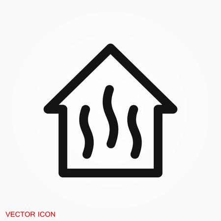Sauna icon vector sign symbol Иллюстрация