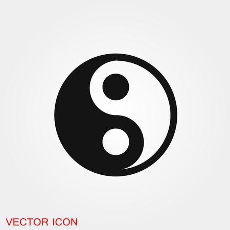 Yin Yang icon vector sign symbol