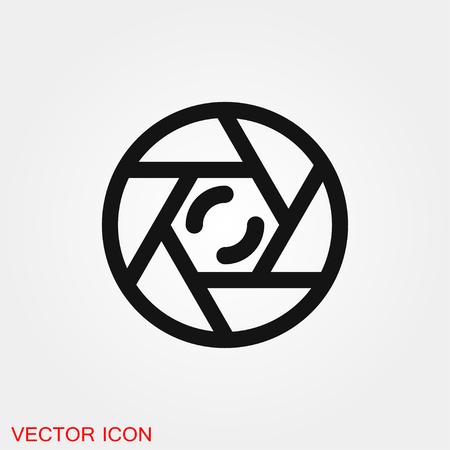 Camera objective icon vector sign symbol