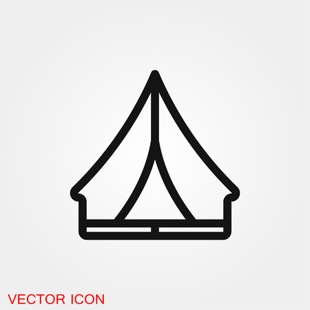 Camping tent icon vector sign symbol
