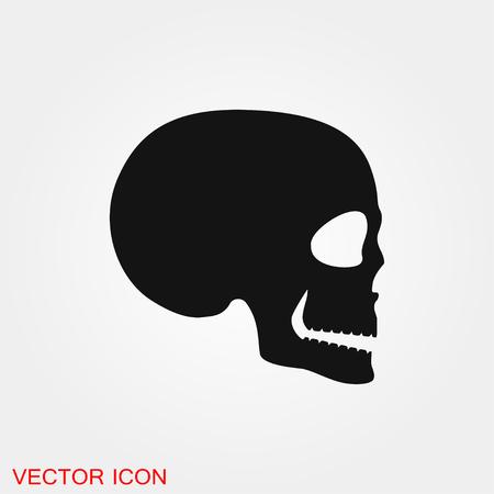 Skull icon vector sign symbol