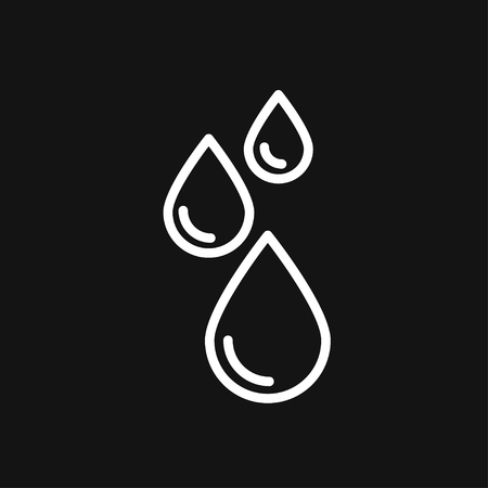 Water icon vector sign symbol Çizim