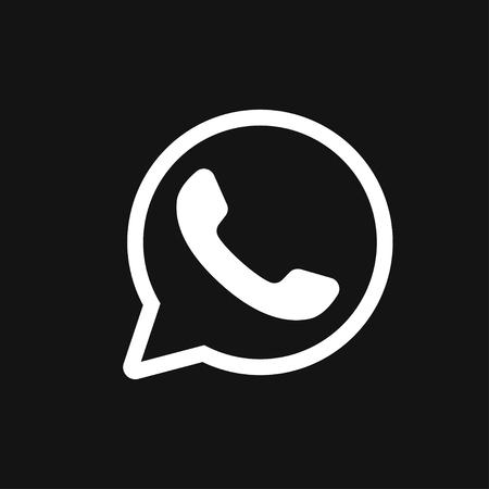 Telephone icon, Whatsapp icon vector sign symbol