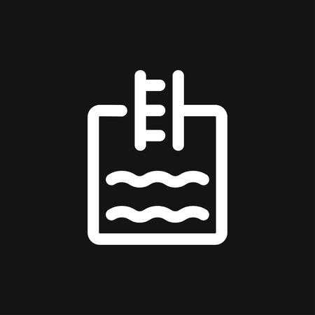 Pool flat icon vector sign symbol Ilustração