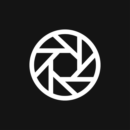 Camera objective icon vector sign symbol Vektorgrafik