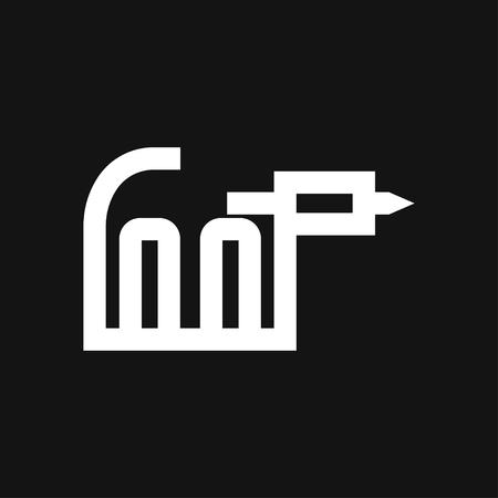 Tattoo Machine Icon vector sign symbol Illusztráció