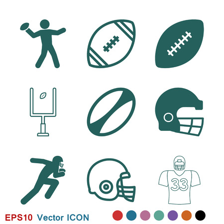 Rugby Icon vector sign symbol