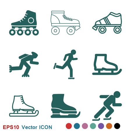Símbolo de signo de vector de icono de patinaje Ilustración de vector