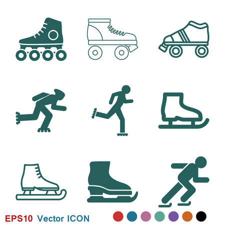 Skating icon vector sign symbol Ilustrace