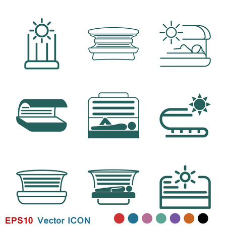 Solarium icon vector sign symbol