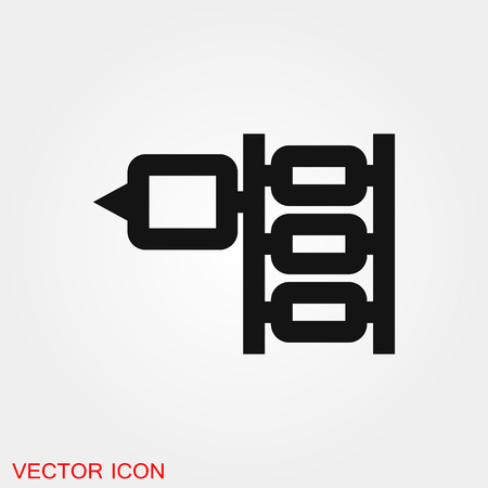 Tattoo Machine Icon vector sign symbol