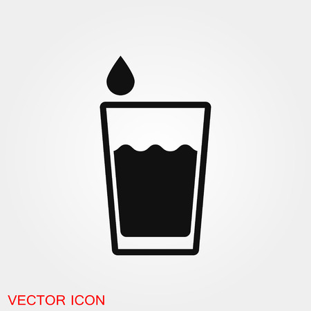 Water icon vector sign symbol