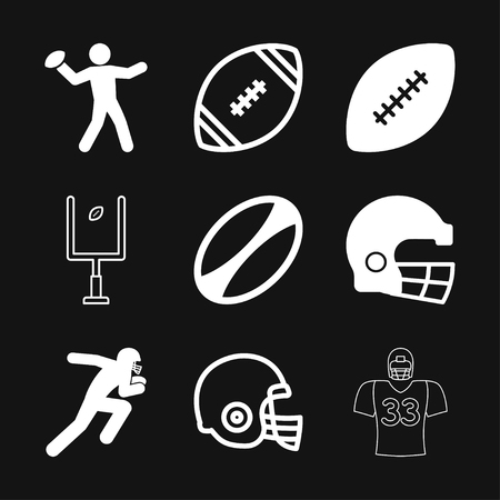 Rugby Icon vector sign symbol Illustration