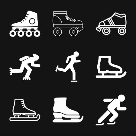 Skating icon vector sign symbol